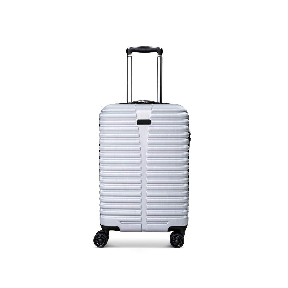 QL-スーツケース トロリーケース、ユニバーサルホイールスーツケース、男性と女性の搭乗学生ビジネス、パスワードボックスのスーツケース、シルバー、ブラック、グレー、ブルー 旅行用品 (Color : B) B07T4SPQ5G B