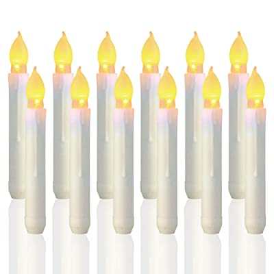 Trandpter 12PCS Harry Potter Candles, Flameless LED Taper Candle Lights, Battery Operated Candles for Party, Classroom, Wedding, Christmas Decorations: Home & Kitchen