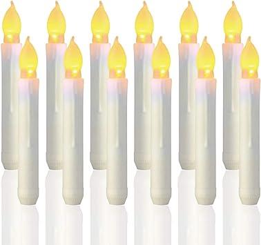 Amazon.com: Trandpter - 12 velas LED sin llama, funciona con ...