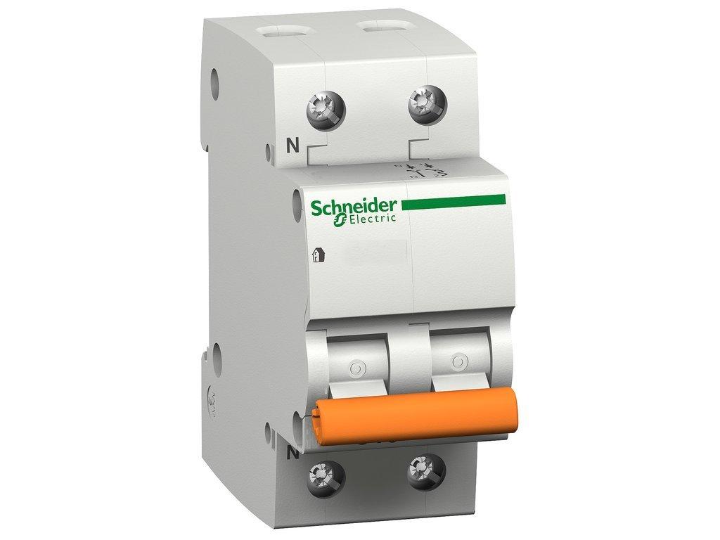 Schneider Electric 12507 - Interruptor automá tico magnetoté rmico Domae 6 kA, 1P+N (6 A) curva C