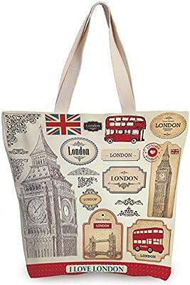 f9b1fe66b6 Amazon.com  iPrint Unique Durable Canvas Tote Bag
