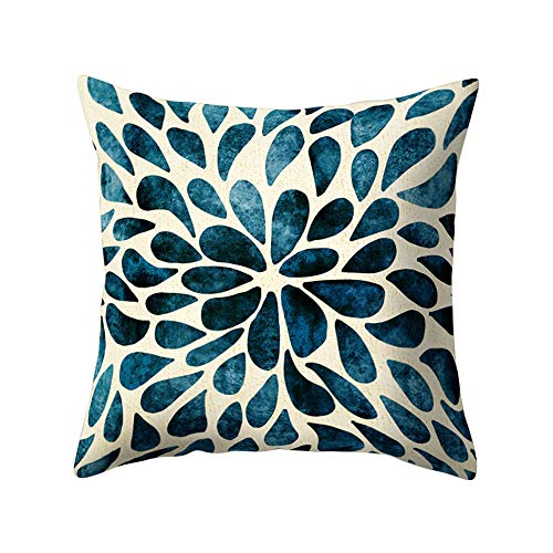 Ameesi Flower Floral Pattern Square Throw Pillow Cover Case Cushion Home Sofa Car Decor - 7