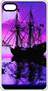 Sailboat Silhouette On Purple Sunset Clear Rubber Case for Apple iPhone 4 or iPhone 4s