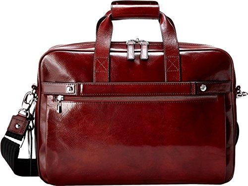 Bosca Old Leather Single Gusset Stringer Bag (Dark Brown)