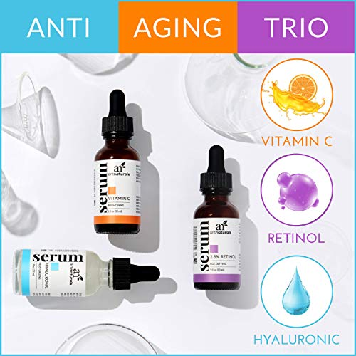 51h7Ap7r%2BIL - ArtNaturals Anti-Aging-Set with Vitamin-C Retinol and Hyaluronic-Acid - (3 x 1 Fl Oz / 30ml) Serum for Anti Wrinkle and Dark Circle Remover - All Natural and Moisturizing