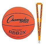 Champion Sports Basketball Trainer Orange Bundle with 1 Performall Lanyard RBB2X-1P