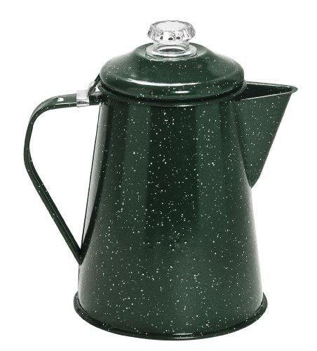 Cinsa 311337 Camp Ware Coffee Pot with Percolator, 2-Quart, Green Tundra