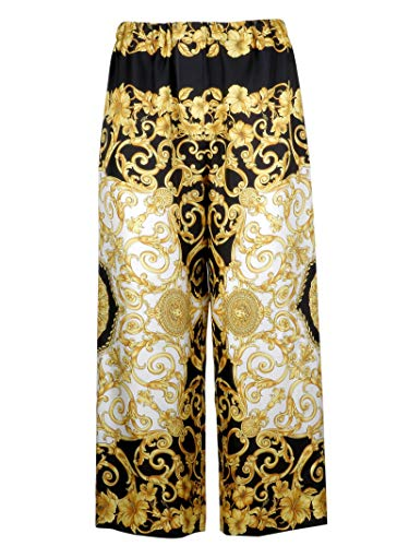 A82117a228617a7900 Or Collection Pantalon Soie Versace Femme Ya4qwgg
