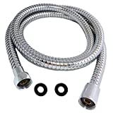 #3: Shower Hose 98 Inches 8.2 ft Extra Long Stainless Steel Flexible Handheld Shower Head with Chrome Finishes - Best Detachable Handshower Extension Replacement Adapter with Brass Fitting