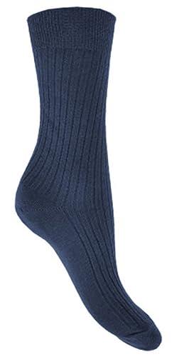 88512c776 Hosiery-Direct-UK Men s 6Pk 100% Cotton Soft Elastic Ribbed Suit Socks 6 11  Blacks at Amazon Men s Clothing store