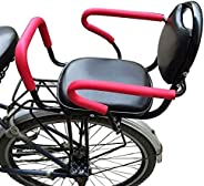 Bicycle Seat, Load-Bearing 110lbs Baby Bicycle Seat Behind Mounted Child Bike Seat Kids Saddle Carrier Seat Cu