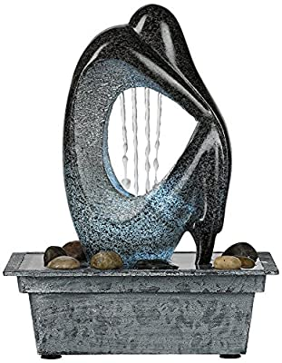 Modern Silhouette LED Tabletop Fountain