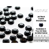 Lana's Magic Diamante HQ Jet Black Crystal Hot Fix Rhinestones (SS10 - ø3mm in Diameter) min 80 Pieces, Buy 5 Bags or more in a Single Transaction, Get 1 Bag FREE