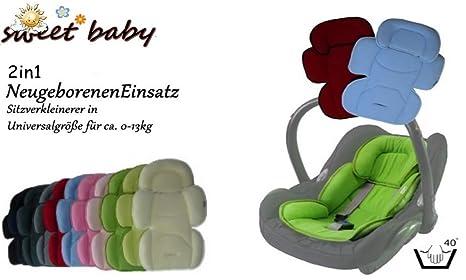 Sweet Baby Softy Maxi - Reductor de asiento con cabezal extraíble para recién nacidos azul marine