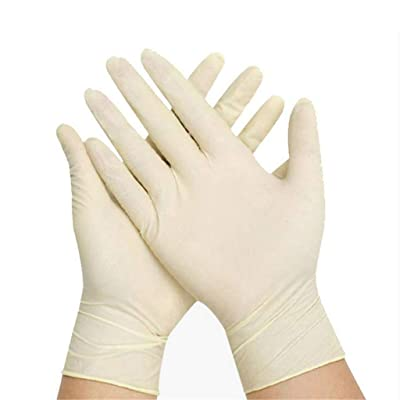 Nitrile Exam Gloves,100 Pcs Comfortable Disposable Exam Gloves Protective - Safety, Powder Free, Latex Free (White): Clothing