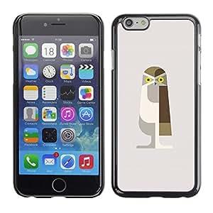"Pulsar Snap-on Series Teléfono Carcasa Funda Case Caso para Apple Iphone 6 Plus / 6S Plus ( 5.5 ) , Búho Pájaro Polígono arte minimalista de Brown"""
