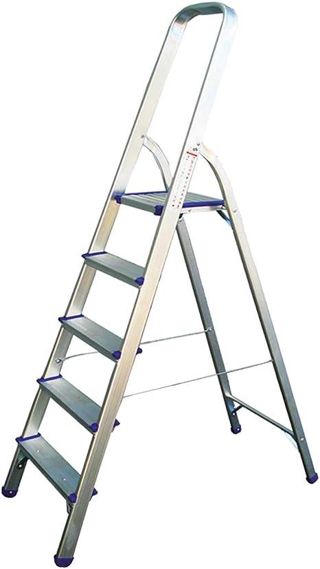 kippen - Escalera de Aluminio con 7 peldaños y Base GS/TUV EN131: Amazon.es: Hogar