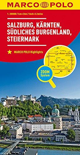 MARCO POLO Regionalkarte Österreich Blatt 2 1:200 000: Salzburg, Kärnten, Steiermark, südliches Burgenland (MARCO POLO Karten 1:200.000) (Niederländisch) Landkarte – 21. Juni 2017 Kärnten MAIRDUMONT 382974076X Karten / Stadtpläne / Europa