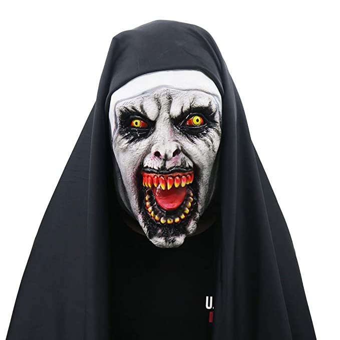 yachee halloween props the creepy novelty horror scary zombie full head deluxe latex mask for