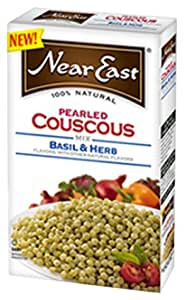 Near East Basil & Herb Pearled Couscous, 5-Ounce (Pack of 6)
