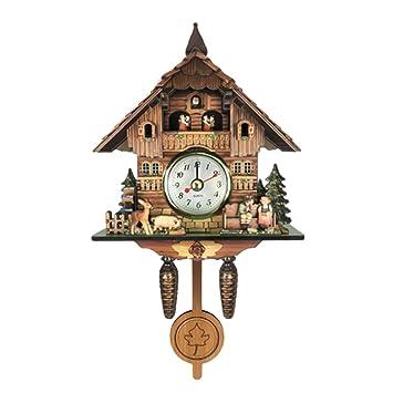 B Blesiya Madera Reloj de Pared del Diseño Cuco, También es un Adorno Decorativo Doméstico - # 10: Amazon.es: Hogar