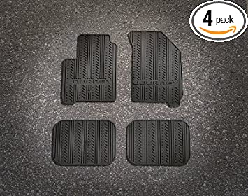 Mopar 82213150 Black All-Weather Mat 4 Pack Front and Rear Seat Mats
