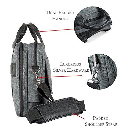16 ~ 17.3 Laptop Bag, Twill Shoulder Laptop, Tablets, Ultrabooks, Notebook, Chromebooks & Netbook Computers