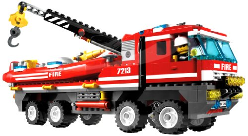 Lego City Fire Engine Shaped Jumbo Foil Balloon (Red) Party - Giant Shaped Balloon Foil