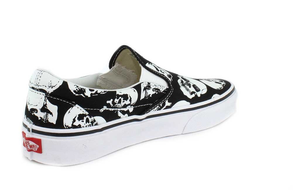 Vans Unisex Classic (Checkerboard) Slip-On Skate Shoe B078Y7QWBN M 12 Women / 10.5 M B078Y7QWBN US Men|Skulls Black White df8406