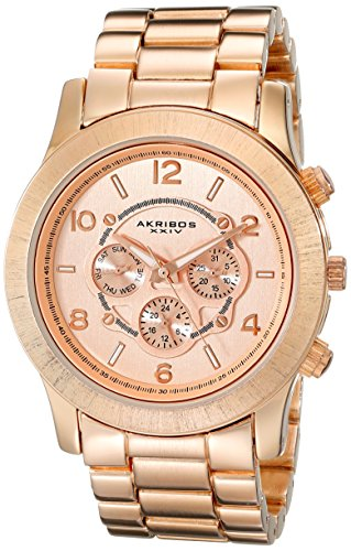 Akribos XXIV Women's AK583RG Ultimate Quartz Multi-Function Bracelet Watch