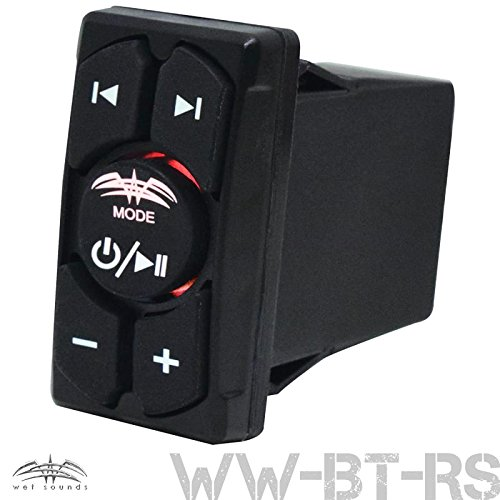 Rs Controller (Wet Sounds Bluetooth Rocker Switch Remote Volume & Aux Input Controller WW-BT-RS)
