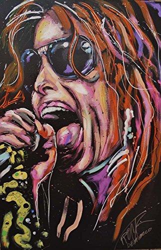 Great Art Now Steven Tyler by Rock Demarco Art Print, 12 x 19 (Tyler Rocks)