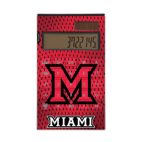 (Miami (Ohio) Redhawks Desktop Calculator NCAA)