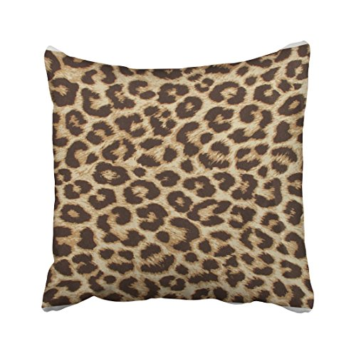 Shorping Zippered Pillow Covers Pillowcases 18X18 Inch leopard print pillow Decorative Throw Pillow Cover ,Pillow Cases Cushion Cover for Home Sofa Bedding (Pillows Leopard Print Decorative)