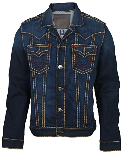True Religion Men's Jimmy Super T Denim Jacket-Murky Tide-XL (True Religion Jean Jacket)