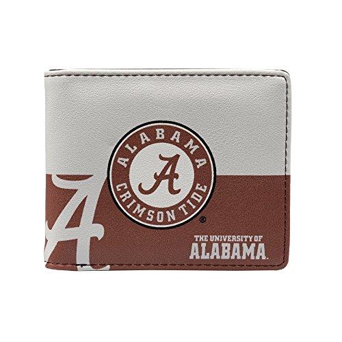 NCAA Alabama Crimson Tide Bi-Fold Wallet, Red, 5-inch by 4-inch by - Alabama Crimson Card Tide