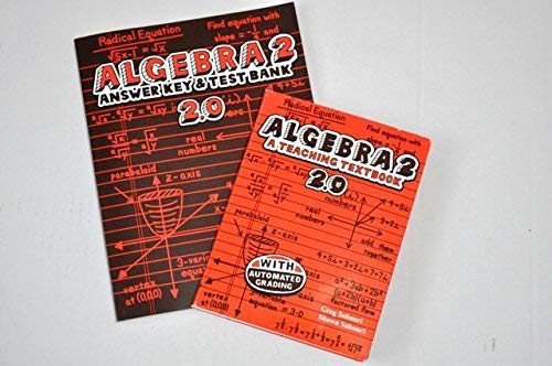 Teaching Textbooks Algebra 2 Answer Key and Test - Answer Key Tests 2
