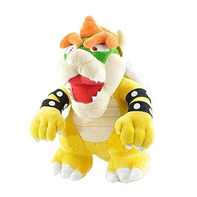 "Hfreshtoys Kuba Fire Dragon Yellow Bowser Plush King Koopa Jumbo Size Stuffed Animals Plush Toys Soft Doll Koopalings Dragon 10"": Toys & Games"