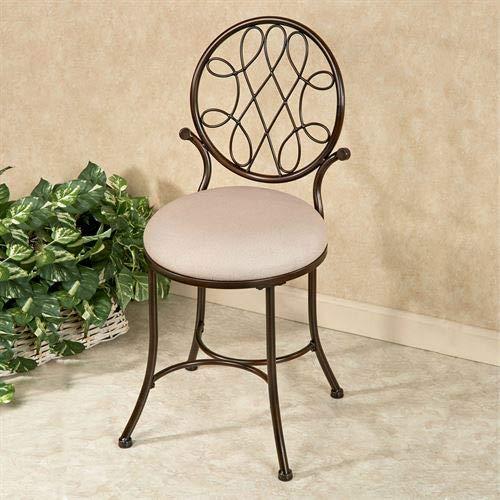 Hillsdale Furniture Bedelia Vanity Chair Burnished Bronze