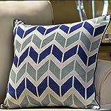 American country-style pillow PP cotton back cushion sofa bedside linen Hug pillowcase -A 50x50cm(20x20inch)VersionB
