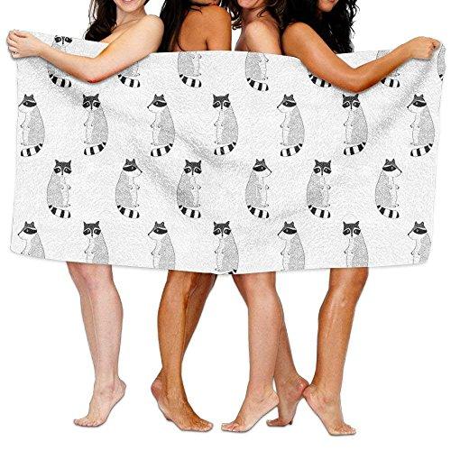 Shower Curtain Raccoon Pattern Print Design Adult Soft Micro