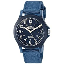 Timex Unisex TW4B09600 Expedition Acadia Mid-Size Blue Nylon Strap Watch