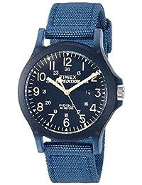 Timex Unisex TW4B09600 Expedition Acadia Mid-Size Blue Nylon Strap Watch