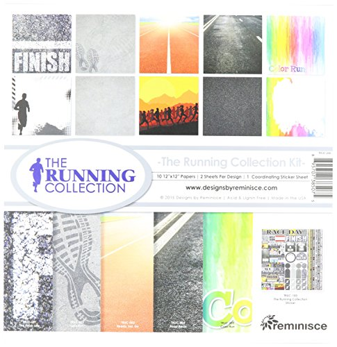 12 Scrapbooking Stickers - Reminisce TRUC-200 Running Collection Kit, 12