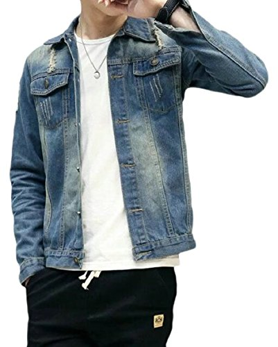 CBTLVSN Mens Slim Fit Long Sleeve Classic Washed Denim, used for sale  Delivered anywhere in USA