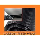 2003-2010 DODGE RAM 1500 2500 3500 BLACK Carbon Fiber Hood Dash Mirror Roof Wrap Sheet Vinyl Decal 12'' x 60'' 2004 2005 2006 2007 2008 2009 03 04 05 06 07 08 09 10