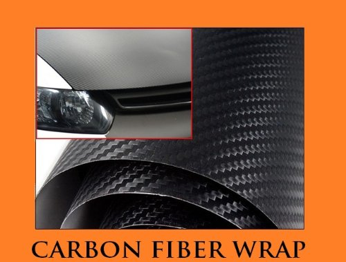 2006-2012 LAND ROVER RANGE ROVER SPORT BLACK Carbon Fiber Hood Dash Mirror Roof Wrap Sheet Vinyl Decal 48