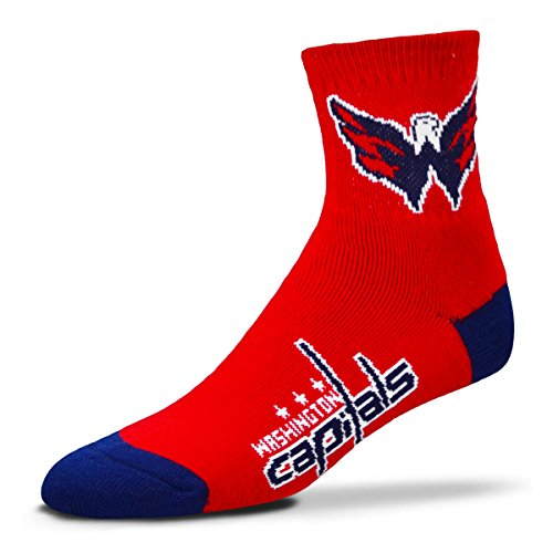 Washington Capitals Mens Socks - NHL Washington Capitals Men's Team Quarter Socks, Large
