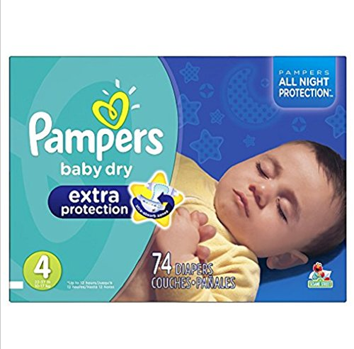 Pampers Size 4 62 Count Swaddlers Overnights Diapers Absorb Away Liner pulls wetness and mess away from baby's skin