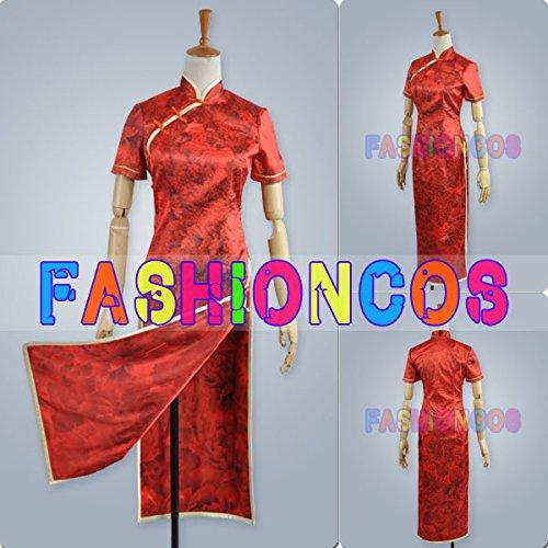 男性XSサイズ QC538 VOCALOID ボーカロイド チャイナドレス 重音テト コスプレ衣装